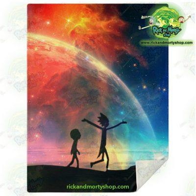Rick & Morty Microfleece Blanket Red Sky M Premium - Aop