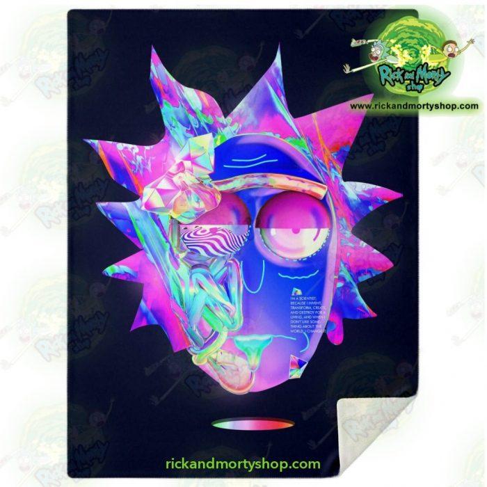 Rick & Morty Microfleece Blanket - Sanchezs Face Diamond M Premium Aop
