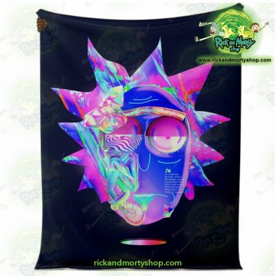 Rick & Morty Microfleece Blanket - Sanchezs Face Diamond Premium Aop