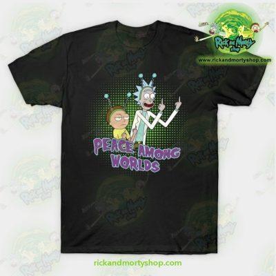 Rick & Morty Peace Among Worlds T-Shirt Black / S T-Shirt