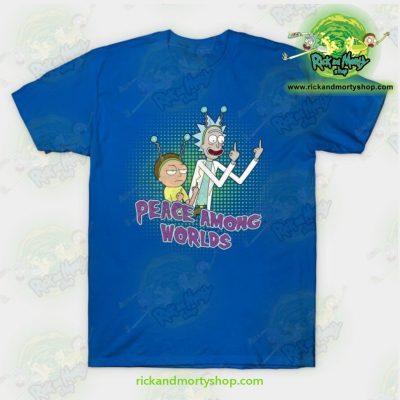 Rick & Morty Peace Among Worlds T-Shirt Blue / S T-Shirt