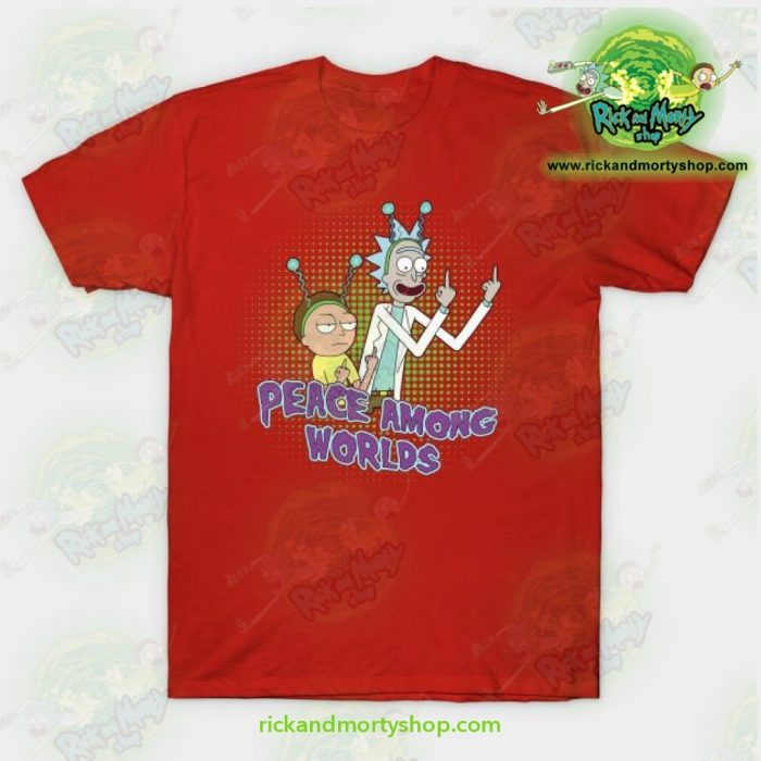 Rick & Morty Peace Among Worlds T-Shirt Red / S T-Shirt