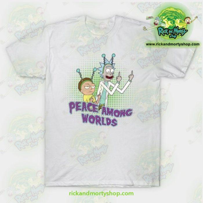 Rick & Morty Peace Among Worlds T-Shirt White / S T-Shirt