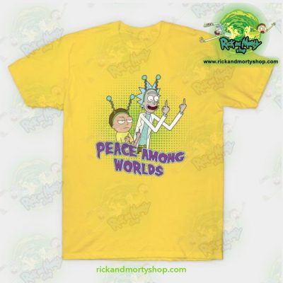 Rick & Morty Peace Among Worlds T-Shirt Yellow / S T-Shirt