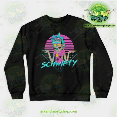 Rick & Morty Rad Schwifty Crewneck Sweatshirt Black / S Athletic - Aop