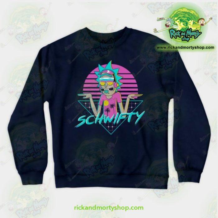 Rick & Morty Rad Schwifty Crewneck Sweatshirt Navy / S Athletic - Aop