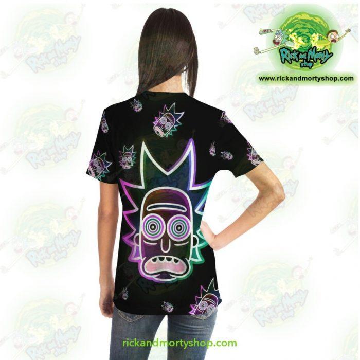 Rick & Morty Ricks Face Light 3D T-Shirt T-Shirt