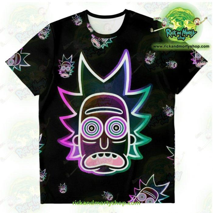 Rick & Morty Ricks Face Light 3D T-Shirt Xs T-Shirt