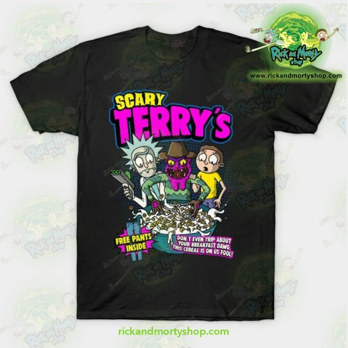 Rick & Morty Scary Terrys T-Shirt Black / S T-Shirt