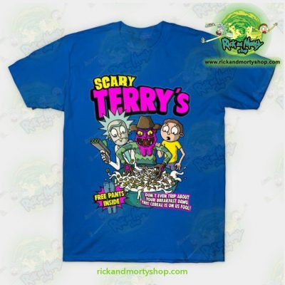 Rick & Morty Scary Terrys T-Shirt Blue / S T-Shirt