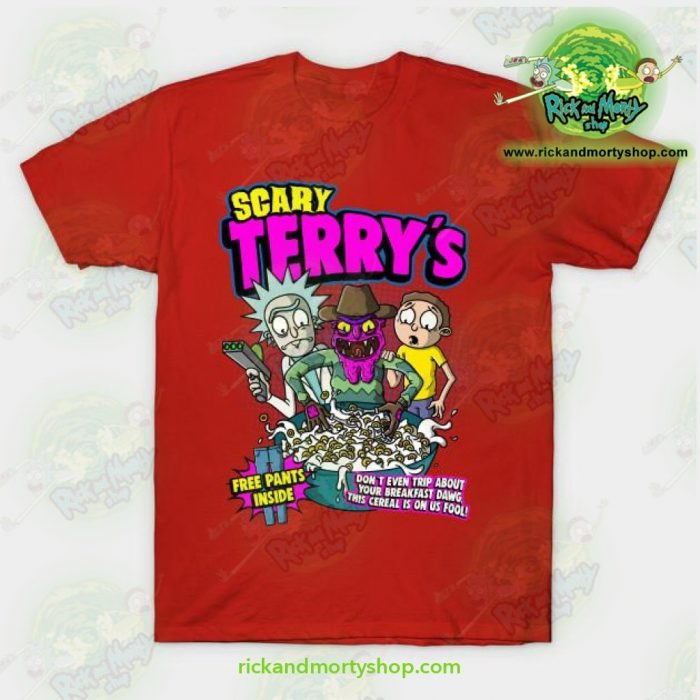 Rick & Morty Scary Terrys T-Shirt Red / S T-Shirt