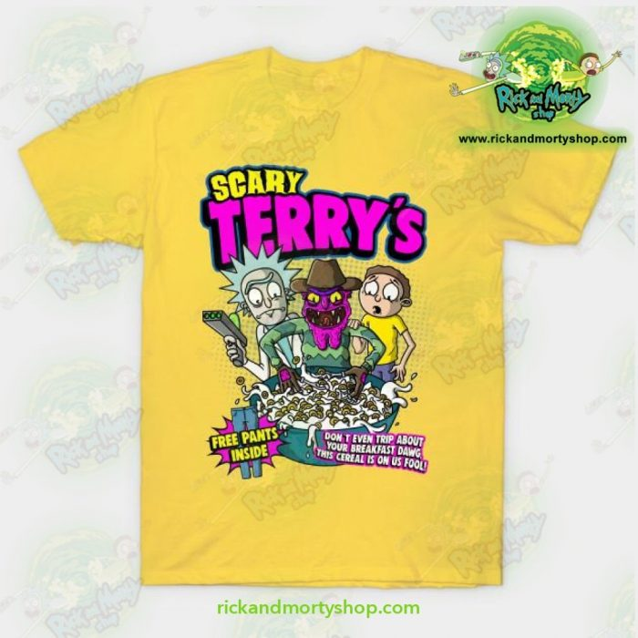 Rick & Morty Scary Terrys T-Shirt Yellow / S T-Shirt
