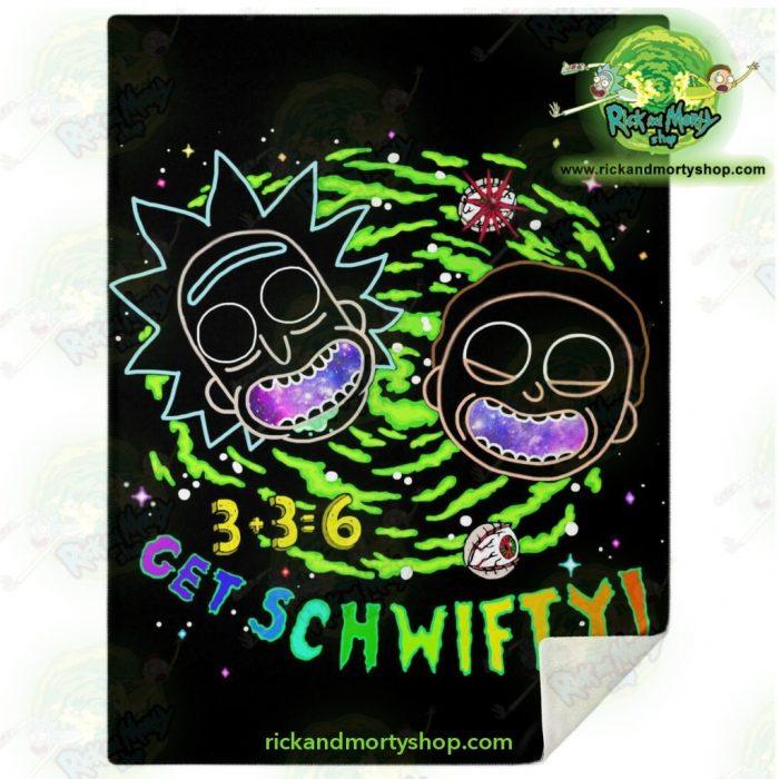 Rick & Morty Schwift 3D Microfleece Blanket M Premium - Aop