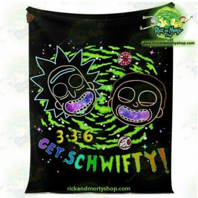 Rick & Morty Schwift 3D Microfleece Blanket Premium - Aop