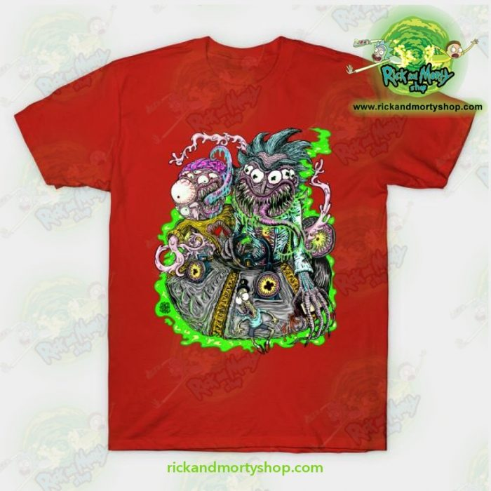 Rick & Morty Space Travel T-Shirt Red / S T-Shirt