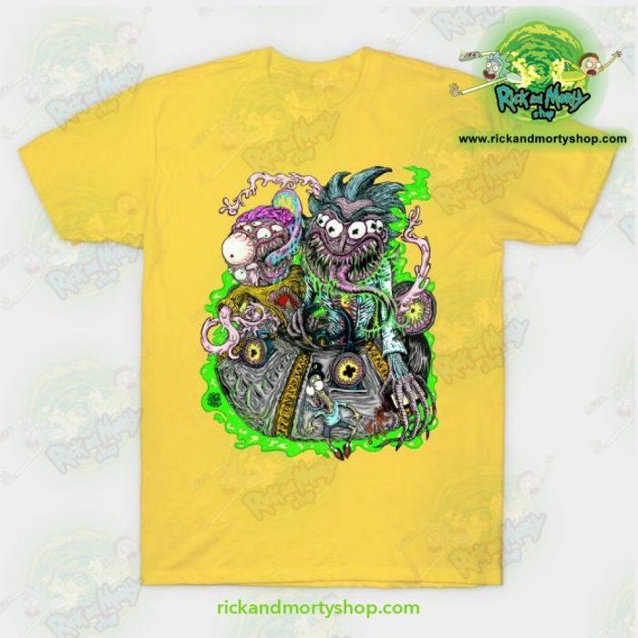Rick & Morty Space Travel T-Shirt Yellow / S T-Shirt