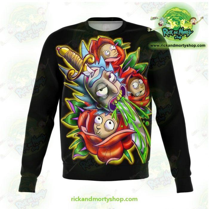 Rick & Morty Sweatshirt 3D Design Limited Stocks Xs Athletic - Aop