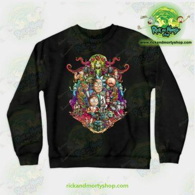 Rick & Morty Sweatshirt - Buckle Up ! Black / S Athletic Aop