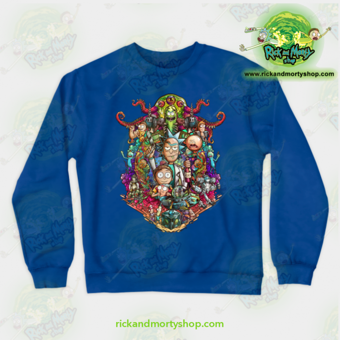 Rick & Morty Sweatshirt - Buckle Up ! Blue / S Athletic Aop