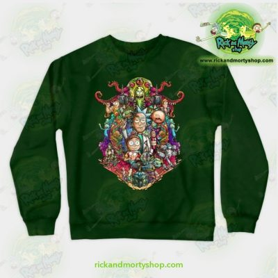Rick & Morty Sweatshirt - Buckle Up ! Green / S Athletic Aop