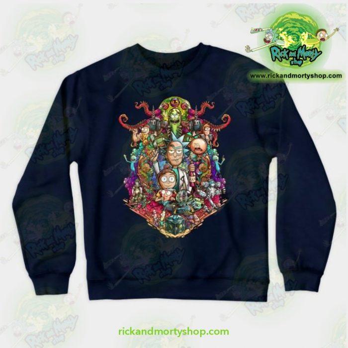 Rick & Morty Sweatshirt - Buckle Up ! Navy / S Athletic Aop