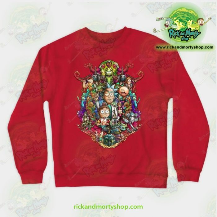 Rick & Morty Sweatshirt - Buckle Up ! Red / S Athletic Aop