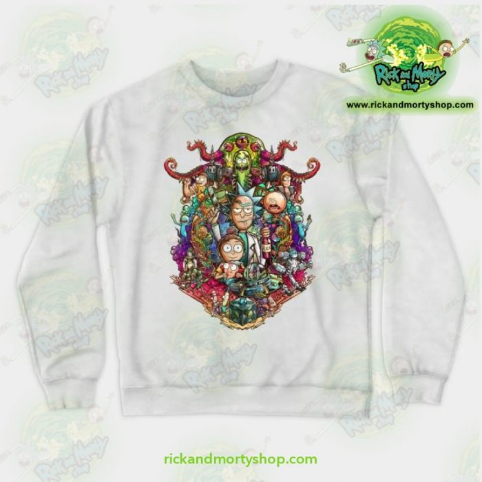 Rick & Morty Sweatshirt - Buckle Up ! White / S Athletic Aop