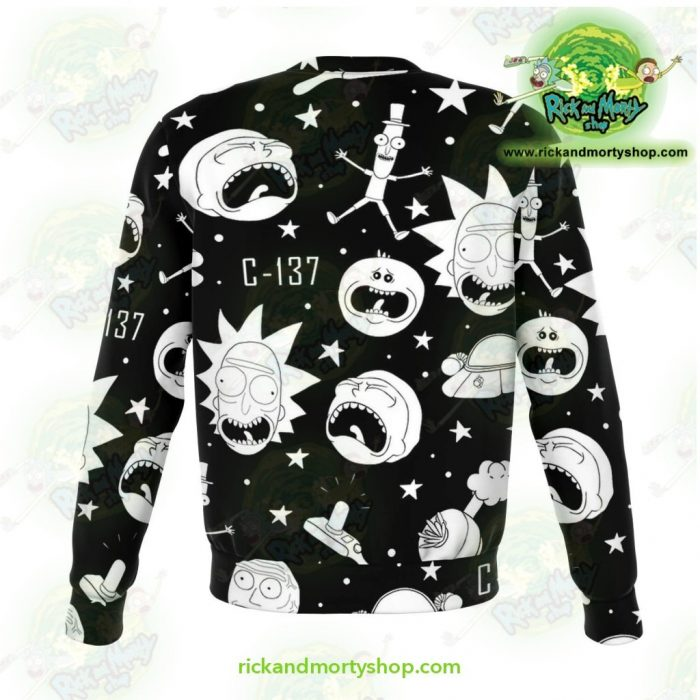 Rick & Morty Sweatshirt Crazy C137 Athletic - Aop