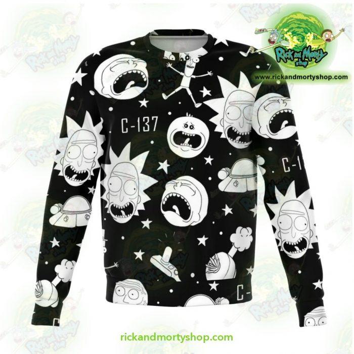 Rick & Morty Sweatshirt Crazy C137 Xs Athletic - Aop