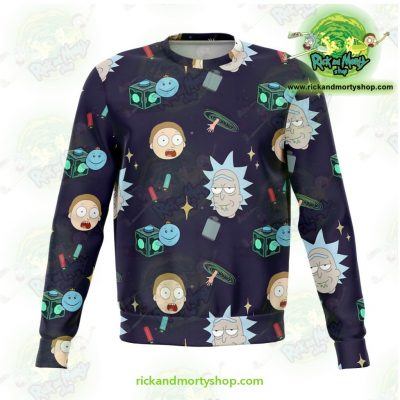Rick & Morty Sweatshirt Cute Fashion 2021 Xs Athletic - Aop