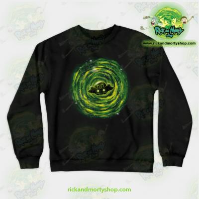 Rick & Morty Sweatshirt - Dimensional Rikt Crewneck Black / S Athletic Aop