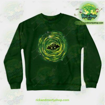 Rick & Morty Sweatshirt - Dimensional Rikt Crewneck Green / S Athletic Aop