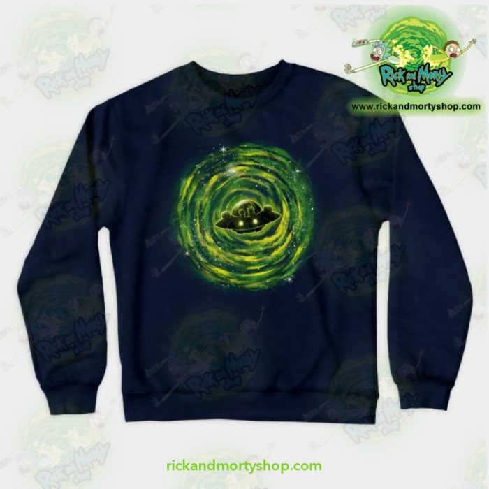 Rick & Morty Sweatshirt - Dimensional Rikt Crewneck Navy / S Athletic Aop