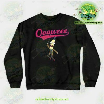 Rick & Morty Sweatshirt - Professor Poopybutthole Oooweee Black / S Athletic Aop