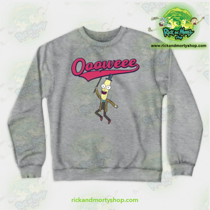 Rick & Morty Sweatshirt - Professor Poopybutthole Oooweee Gray / S Athletic Aop