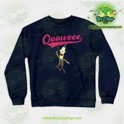 Rick & Morty Sweatshirt - Professor Poopybutthole Oooweee Navy / S Athletic Aop