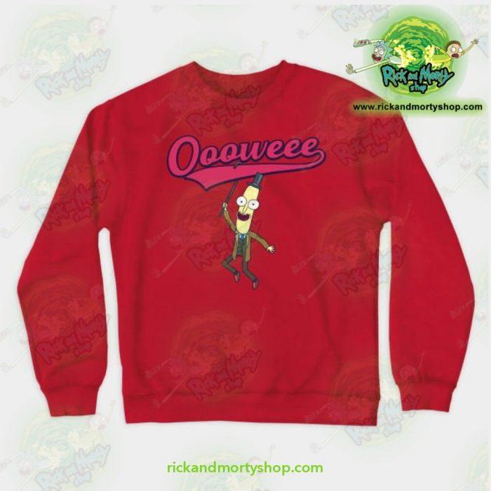 Rick & Morty Sweatshirt - Professor Poopybutthole Oooweee Red / S Athletic Aop