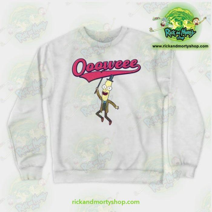 Rick & Morty Sweatshirt - Professor Poopybutthole Oooweee White / S Athletic Aop