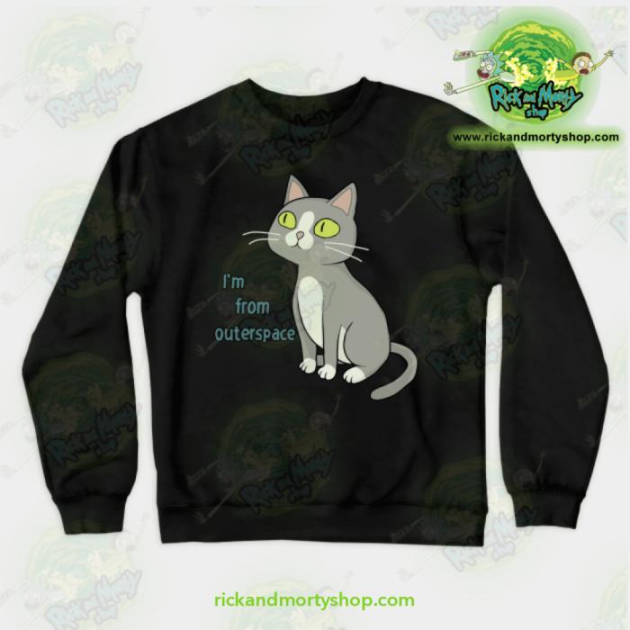 Rick & Morty Sweatshirt - Talking Cat Black / S Athletic Aop