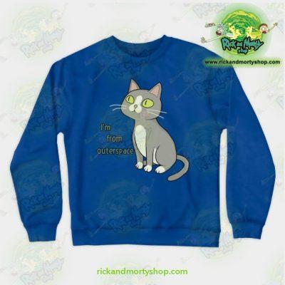 Rick & Morty Sweatshirt - Talking Cat Blue / S Athletic Aop