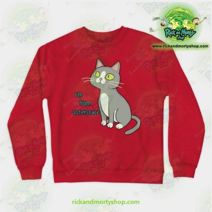 Rick & Morty Sweatshirt - Talking Cat Red / S Athletic Aop