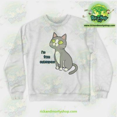 Rick & Morty Sweatshirt - Talking Cat White / S Athletic Aop