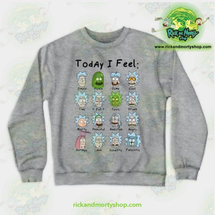 Rick & Morty Sweatshirt - Today I Feel Gray / S Athletic Aop