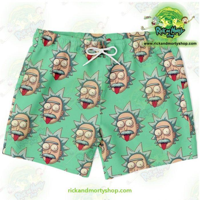 Rick & Morty Swim Trunk - Funny Face Sanchez Xs Trunks Men Aop