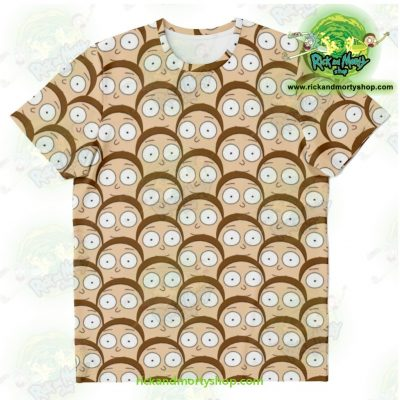 Rick & Morty T-Shirt - Many Mortys Face Xs