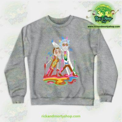 Rick & Morty Tripp Crewneck Sweatshirt Gray / S Athletic - Aop
