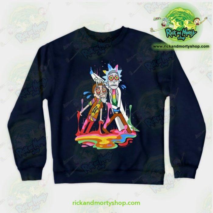 Rick & Morty Tripp Crewneck Sweatshirt Navy / S Athletic - Aop