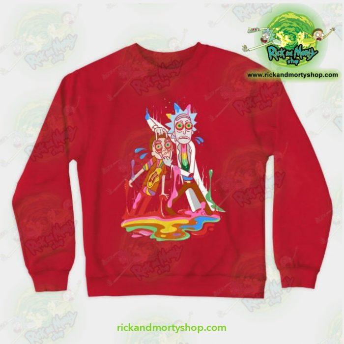 Rick & Morty Tripp Crewneck Sweatshirt Red / S Athletic - Aop
