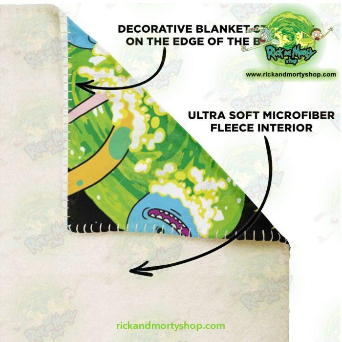 Rick & Morty Universe 3D Microfleece Blanket Premium - Aop