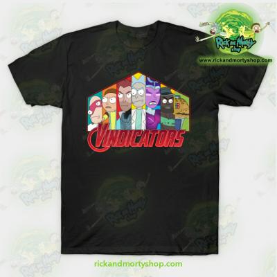 Rick & Morty Vindicators T-Shirt Black / S T-Shirt